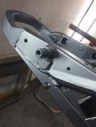Peinture chassis moto cb 500 run iron works